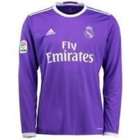 Buy cheap Adidas Real Madrid Away '16-'17 Long Sleeve Soccer Jersey (Purple/White) from wholesalers