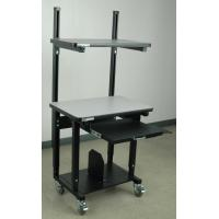 Buy cheap Computer Carts & Stands Mobile Computer Desk W/ Top Shelf from wholesalers