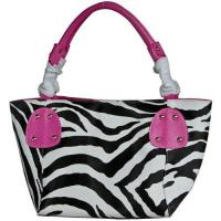 Buy cheap FASH Large Zebra Print Faux Leather Handbag from wholesalers