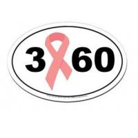Buy cheap Bumper Stickers 3 60 Breast Cancer 3-Day Walk Car Magnet from wholesalers