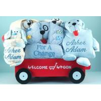 Personalized Baby Gifts Deluxe Puppy Welcome Wagon Personalized Baby Boy Gift