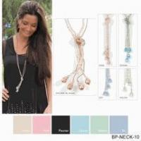Buy cheap Simply Noelle necklace crystal bolero khaki, pink, blue, green, pewter product