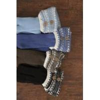 Buy cheap Simply Noelle Nordic knee boot socks blue jean, stone, black, seaglass from wholesalers