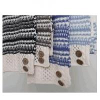 Buy cheap Simply Noelle Nordic stripe scarf with buttons winter brown, blue, black product
