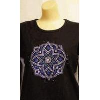 Buy cheap Christine Alexander Sweatshirt Stained Glass Medallion Size 3x on black product
