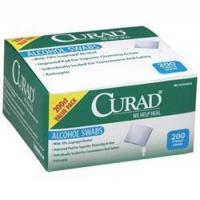 Buy cheap Curad Alcohol Swabs 1 x 1, 2-ply with 70% Isopropyl Alcohol from wholesalers