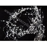 Buy cheap wedding wire beaded pearl string garland decoratio--YZB011 from wholesalers