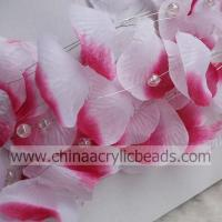 Buy cheap fabric silk rose petal garland with wired hanging--SL001- fabric petal product