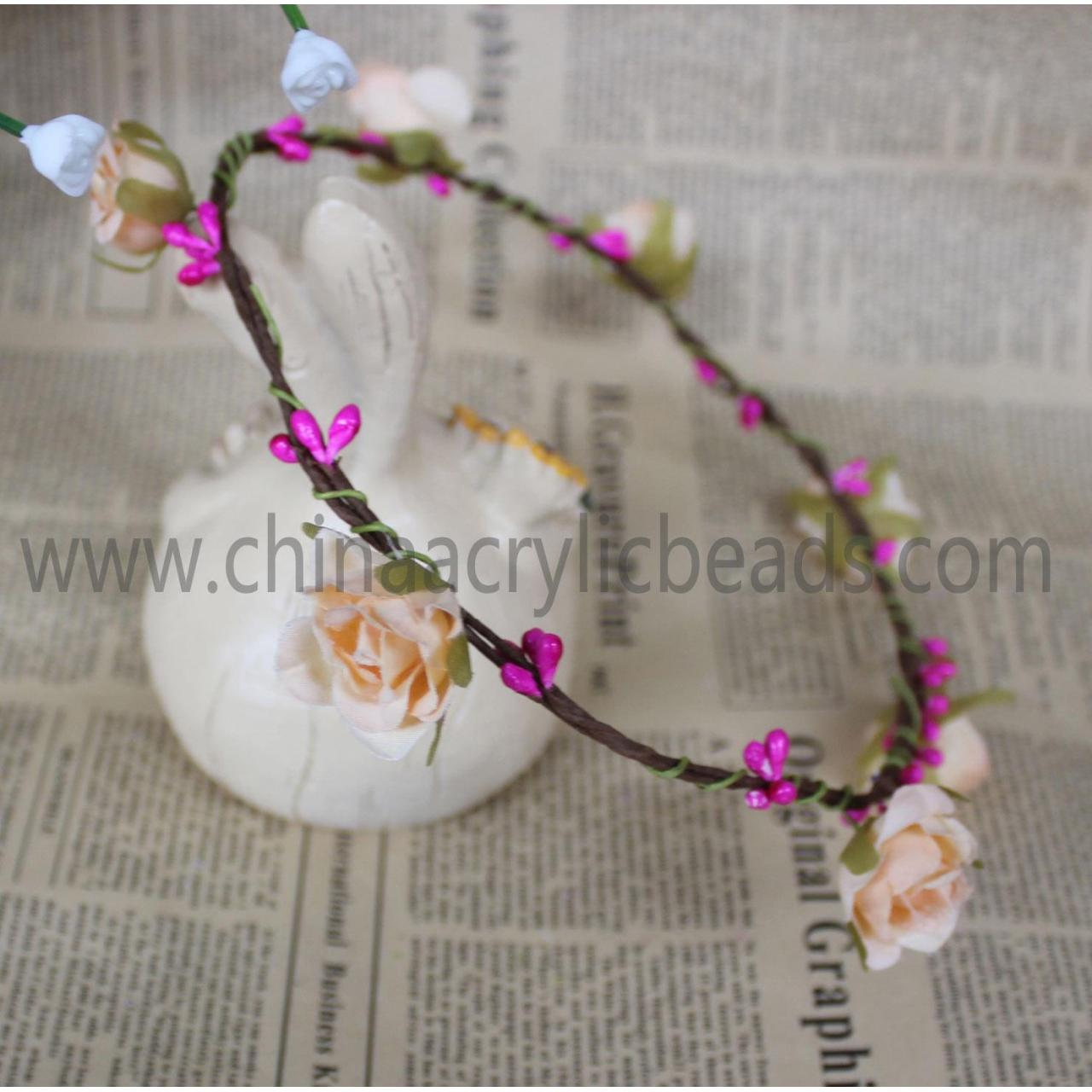 Buy cheap wedding bridal hair band ornament with flower wrea--FHC014 from wholesalers