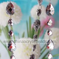 Buy cheap mirror facet beaded garland-YZJ Decorating Idea Online 13*18MM&20*30MM clear rhine--YZJ020 from wholesalers