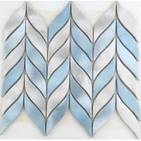 Buy cheap Amazing Leaf Shaped Fresh Blue Color Aluminum Mosaic Tiles with Sale Price from wholesalers