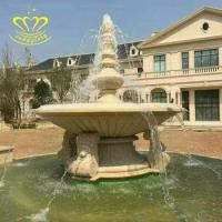 Buy cheap Customized simple Design Outdoor stone garden decor New product marble water fountain from wholesalers