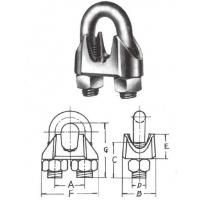 U.S.TYPE GAL MALLEABLE WIRE ROPE CLIPS
