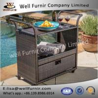 Buy cheap Well Furnir PE All-weather Best Selling Home Wicker Bar Cart from wholesalers