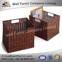 Buy cheap Well Furnir Household Storage Wicker PE Baskets With 2 Handle Easy Portable from wholesalers