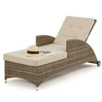 Buy cheap Well Furnir -poolside Hotel Outdoor Rattan Reclining Sun Lounger from wholesalers