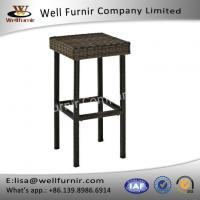 Buy cheap Well Furnir Durable Steel Frame With Brown Finish Resin Wicker Backless Bar Stools from wholesalers