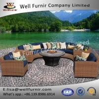Buy cheap Well Furnir WF-17066 Outdoor Wicker Patio 8 Piece Fire Pit Seating Group With Cushion from wholesalers