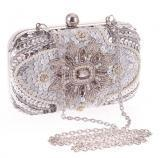 Buy cheap Glitter women beaded clutch silver evening bags EVENING Clutch from wholesalers