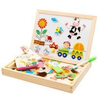 Buy cheap Kid education toys Wooden Magnetic Pattern Blocks Wooden jigsaw puzzle from wholesalers