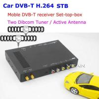China DVB-T7100 DVB-T7100 Car DVB-T digital tv receiver 2 antenna tuner TNT TDT on sale