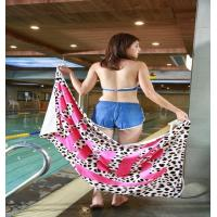 Buy cheap Organic cotton printed velour beach towel from wholesalers