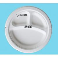 Buy cheap 10in-3compt. plate biodegradable sugarcane plates from wholesalers