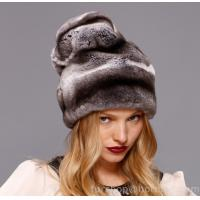 Buy cheap chinchilla rex rabbit fur hat from wholesalers