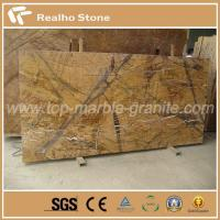 Buy cheap India Rainforest Brown Marble Slab for TV Background Decoration from wholesalers