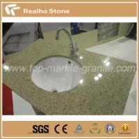 Buy cheap Polished Solid Surface Beige Veins Quartz Stone For Bathroom Vanity Tops from wholesalers