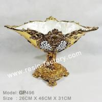 Buy cheap B:Gold plated and seashell item Golden Plate Fruit trays GP496 from wholesalers
