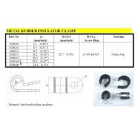 Cable Management Metal Rubber Insulator Clamp
