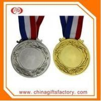 Buy cheap Custom diecasting brass material gold medal awards with ribbon from wholesalers