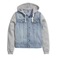 Buy cheap men-Jacket Customized denim jacket hoodie for men from wholesalers