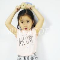 Buy cheap Tops Sleeveless Design Girl's Pink Summer Short Shirts Wellwide W0330 from wholesalers