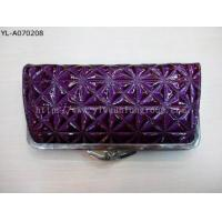 Buy cheap Purple Woman Leather Purse Money Clip from wholesalers