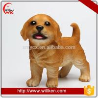Buy cheap Animal Statues Funny resin garden ornaments simulation puppy huntaway dog statues from wholesalers
