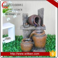 Buy cheap Animal Statues Indoor tabletop polyresin water fountain with light from wholesalers