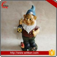 China Animal Statues Resin antique shiny squatting garden gnome on sale