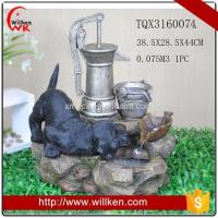 Buy cheap Animal Statues Resin lighted indoor tabletop water fountain for sale from wholesalers