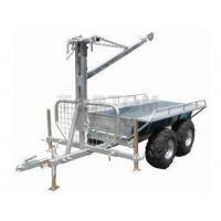 Timber trailer with bed and crane