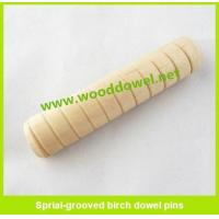 Buy cheap Sprial-grooved birch dowel pins from wholesalers