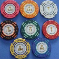 Buy cheap 14g 2-tone Monte Carlo Poker Room Clay Poker Chip from wholesalers