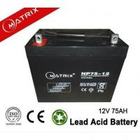 Buy cheap 12v 75ah Mobility Scooter Battery Rechargeable Leak Proof from wholesalers