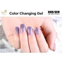 Buy cheap Unharmful Ingredients Colour Changing Gel Nail Varnish , UV Led Gel Polish No Odor from wholesalers