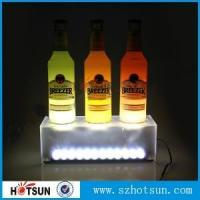 Buy cheap Frosted acrylic wine bottle holder from wholesalers