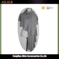 Buy cheap 2016 Women Scarf Big Solid Color Cape Grey Stole 100%Acrylic Shawl from wholesalers