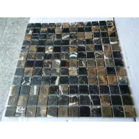 Buy cheap Black Golden Flower mosaic from wholesalers