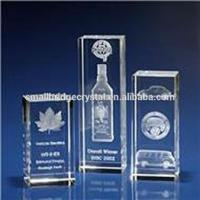 Buy cheap Trophy & Award Laser engraved crystal rectangle tower corporate award from wholesalers