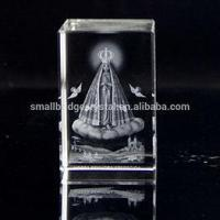 Buy cheap 3D Laser 3d laser engrave christian crystal block for souvenir gift VIRGIN LA APARECIDA from wholesalers